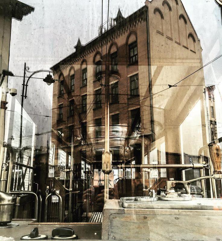 Zza okna #tram #mimkrk #instaphoto #tramwaj #muzeuminżynieriimiejskiej #instaphoto