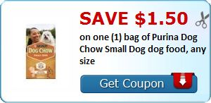 New Coupon!  Save $1.50 on one (1) bag of Purina Dog Chow Small Dog dog food, any size - http://www.stacyssavings.com/new-coupon-save-1-50-on-one-1-bag-of-purina-dog-chow-small-dog-dog-food-any-size/