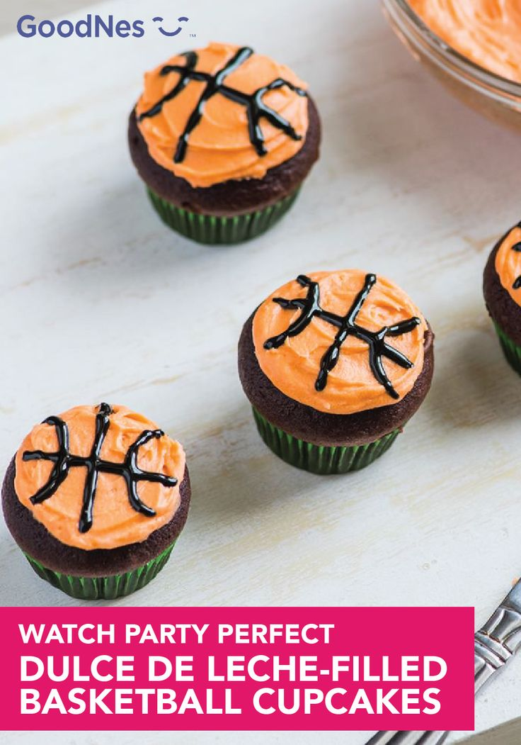 At your next gameday party, watch these cupcakes disappear as you cheer on your team to victory. Made with Nestlé® Carnation® Evaporated Lowfat 2% Milk and Nestlé® La Lechera® Dulce de Leche, these festive Dulce De Leche-Filled Basketball Cupcakes will be loved and enjoyed by all of your guests.
