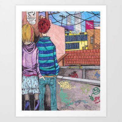 """""""Let's Dance to Joy Division"""" Art print - $15.60"""