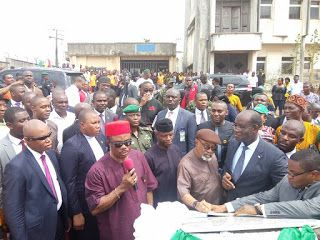Obiano is a lawless Governor--NURTW    By Okechukwu Onuegbu  The National Union of Road Transport Workers (NURTW) Anambra State chapter has accused the state governor Willie Obiano of flouting the court order that restores them to their duty posts in motor parks and vowed to vote him out come November 18 governorship poll if he continues meddling with their affairs.  Disclosing this in an interview with news48hrs.comthe State Chairman of NURTW Chief Austine Udozor flanked by his executive…