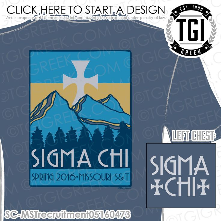 TGI Greek - Sigma Chi - Recruitment - Greek Apparel #tgigreek #sigmachi