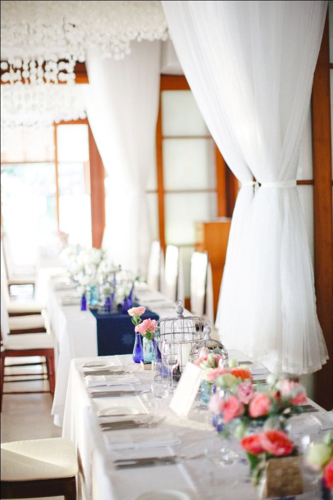 The dining room in long table setup