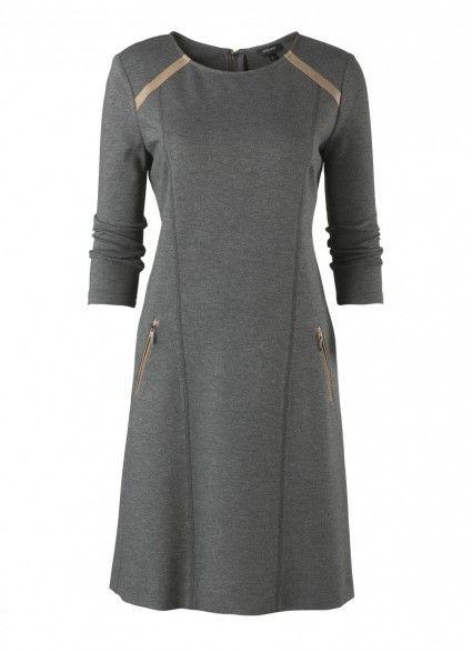 grijze jurk voor A lijn