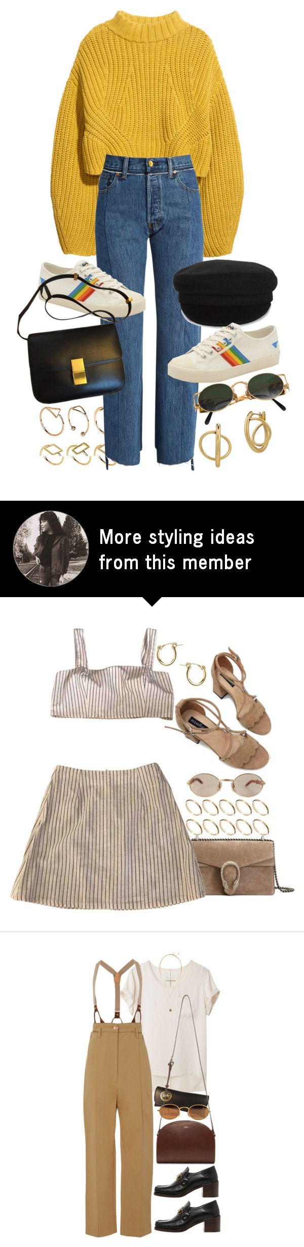 """Untitled #11501"" by nikka-phillips on Polyvore featuring ASOS, H&M, Vetements, Étoile Isabel Marant, Gola, Jean-Paul Gaultier and Lucky Brand"