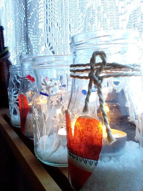 M'made: Talviset Ystävänpäivä lasipurkit