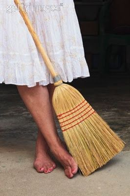 """This memory is pretty fresh...I love a """"real"""" broom!!!"""