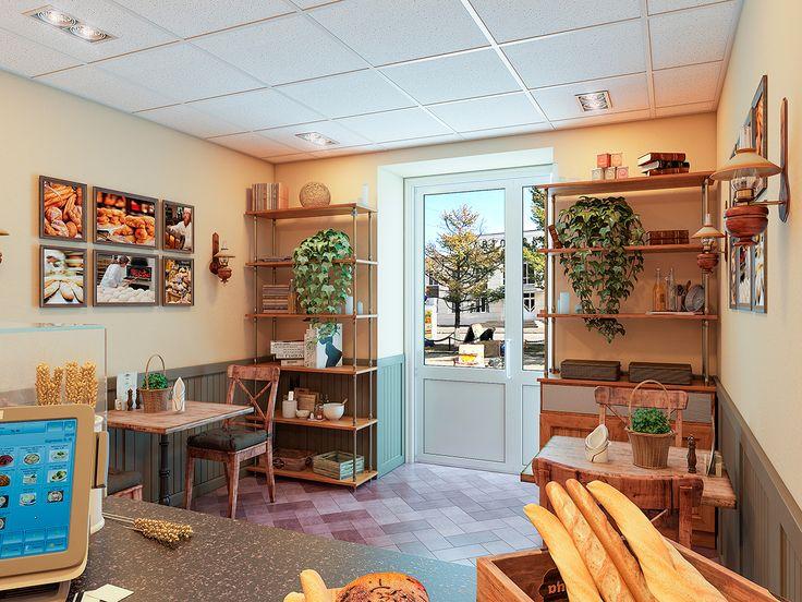 Дизайн интерьера пекарни сети «Хлебница»: обзор с фото