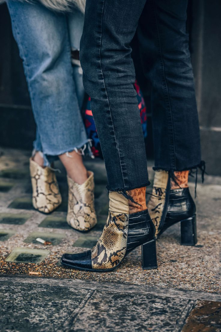 January 8, 2016  Tags Jeans, Shoes, London, Crocodile, Boots, Women, High Heels, Snakeskin, Patchwork, FW16 Men's
