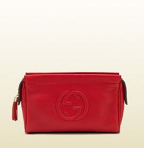 I'm also crazy about this one..decisions, decisions..  Gucci Leather Cosmetic Case on shopstyle.com