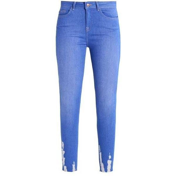JENNA Jeans Skinny Fit bright blue ($19) ❤ liked on Polyvore featuring jeans, blue jeans, super skinny jeans, blue skinny jeans, skinny fit jeans and skinny leg jeans