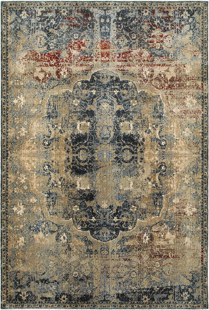 Details About Gold Medallion Rings Petals Leaves Traditional European Area Rug Bordered 4449h Oriental Weavers Area Rugs Blue Area Rugs