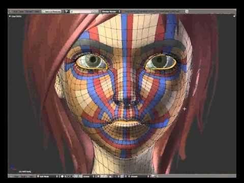 1/7 - Facial Intro Topology - Sintel - YouTube