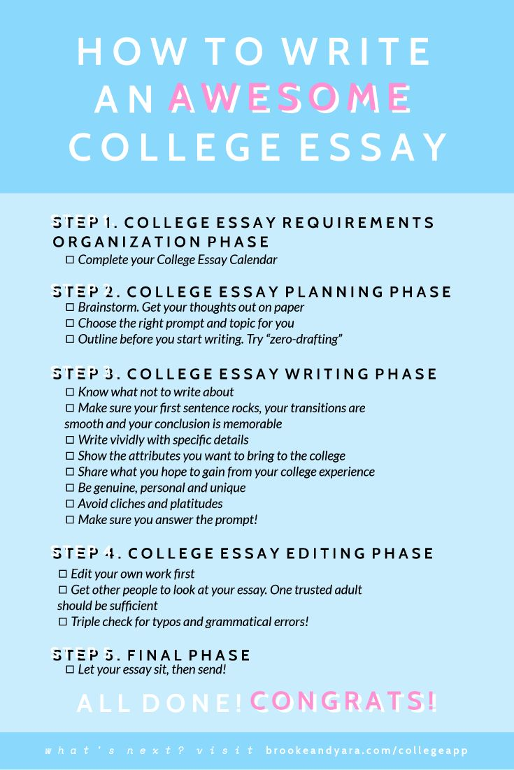 tips for writing a great college application essay