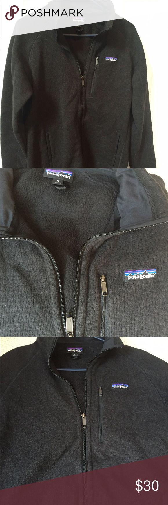 NWOT men's Patagonia sweater jacket. Men's Patagonia sweater zip jacket.  Size M.  NWOT.  100% polyester. Dark gray Patagonia Jackets & Coats
