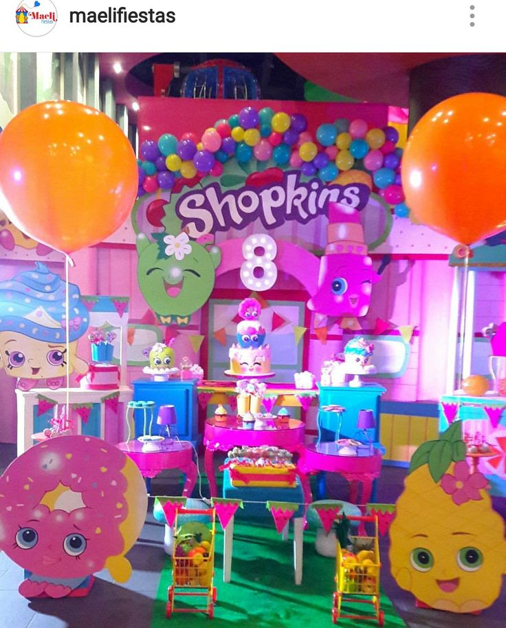 Shopkins birthday party Dessert Table and Decor