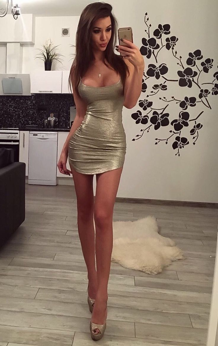 tight Hot dress heels girl