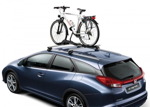 2014 Honda Civic Tourer With Bicycle 600x428 2014 Honda Civic Tourer Full Review with Images