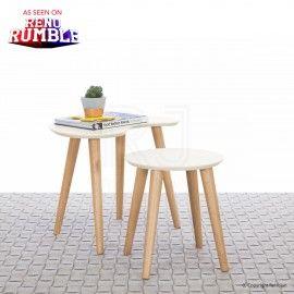 Buy Vaasa Gloria Modern Designer Inspired Nest of Tables - Ivory Online