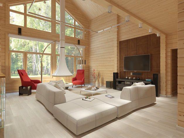 Гостиная, холл в цветах: красный, серый, светло-серый, белый, коричневый. Гостиная, холл в стилях: минимализм, экологический стиль.