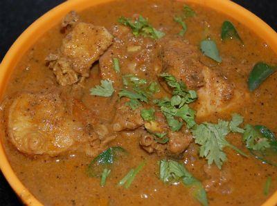 Semi-dry chicken dish