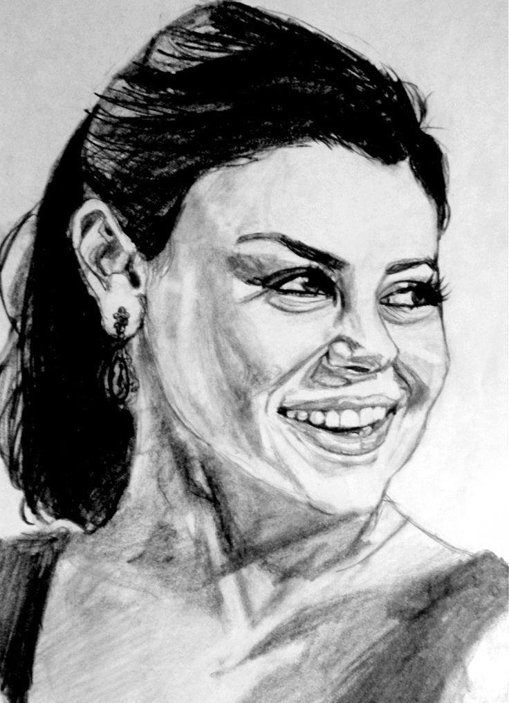 Tried to draw Mila Kunis Helene H.Hagen