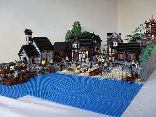 The Port Of Durnovaria A Lego 174 Creation By Luke Watkins