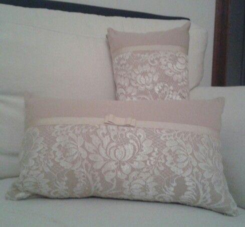 cuscini romantici con pizzo cuscini arredo fai da te