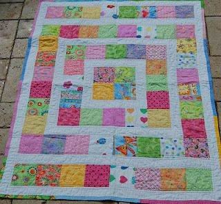 """great juvenile charity quilt - perfect for the 5"""" charms"""