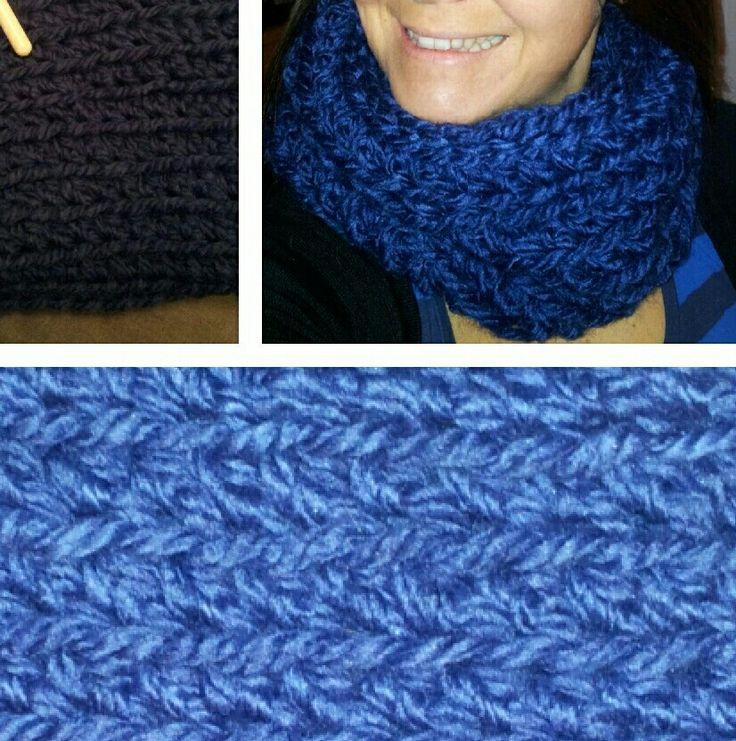 Bufanda infinita azul