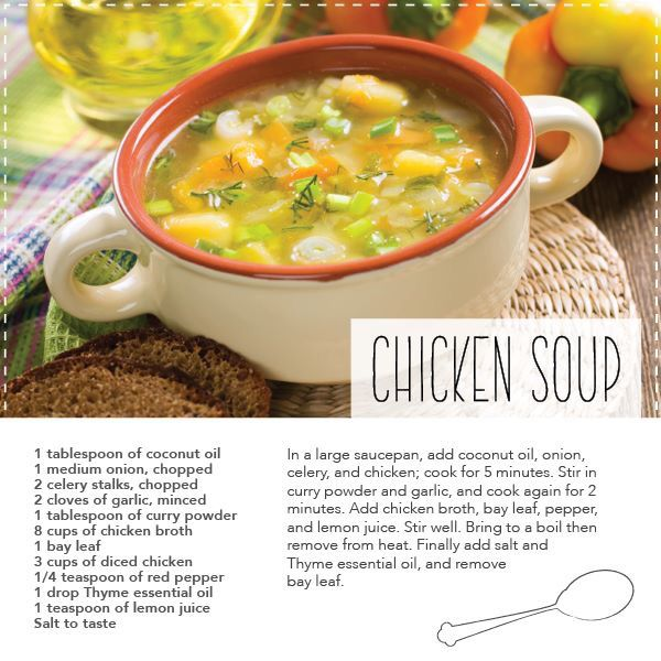 108 best dterra recipes images on pinterest doterra essential chicken soup recipe with doterra thyme essential oil forumfinder Choice Image