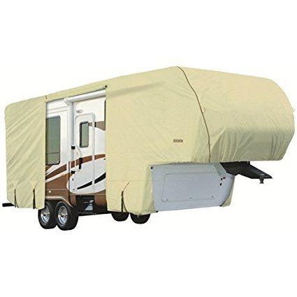Eevelle GLRVFW4244T 42-44 ft. Goldline Cover 5th Wheel Motor Home - Tan. http://www.rvandcamper.net/covers.html