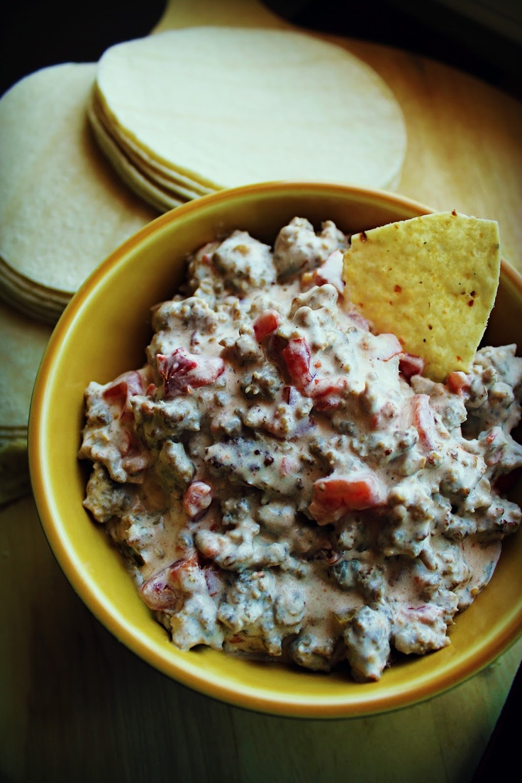 sausage dip with cream cheese and rotel