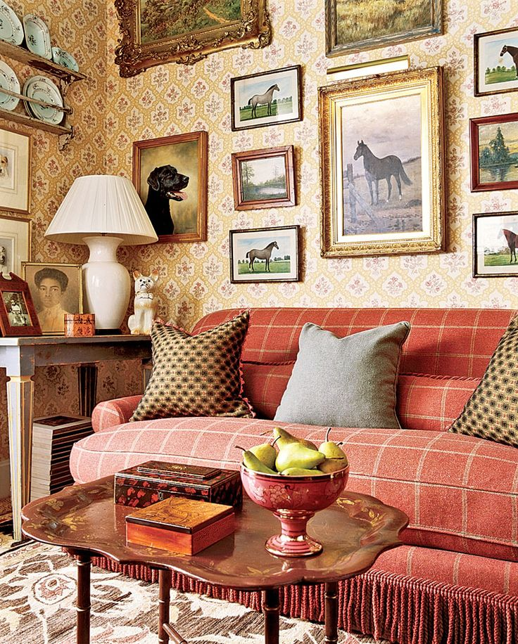 english country living room furniture. Plain English A Red Sofa Puts Just The Right Amount Of Color Into This Otherwise Neutral  English Cottage Style Room For Country Living Room Furniture