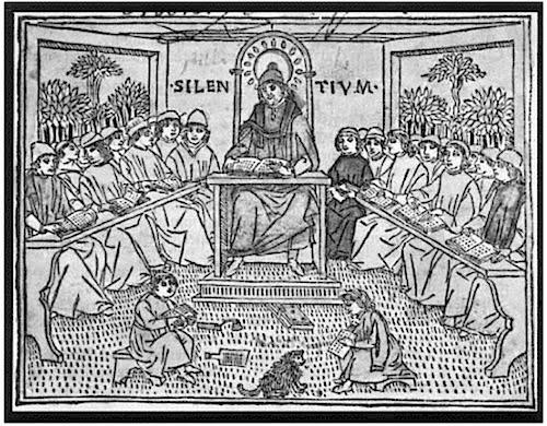 Educación Medieval,as universidades proporcionaron a los estudiantes educación artística liberal básica y la oportunidad de continuar estudiando leyes, medicina o teología. Los cursos se enseñaban en latín, principalmente por maestros que leían de libros. No había exámenes en los cursos individuales, pero los estudiantes tenían que pasar un examen oral completo para obtener un grado.
