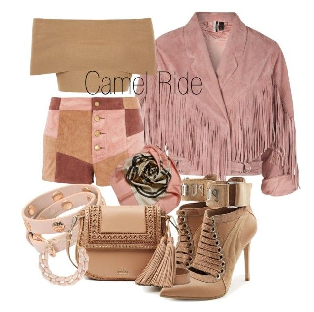 """""""Camel Ride 🐫"""" by anissa1234 ❤ liked on Polyvore featuring Topshop, WYLDR, Hermès, Tory Burch, Blue Vanilla, Puma, Kate Spade and DIANA BROUSSARD"""