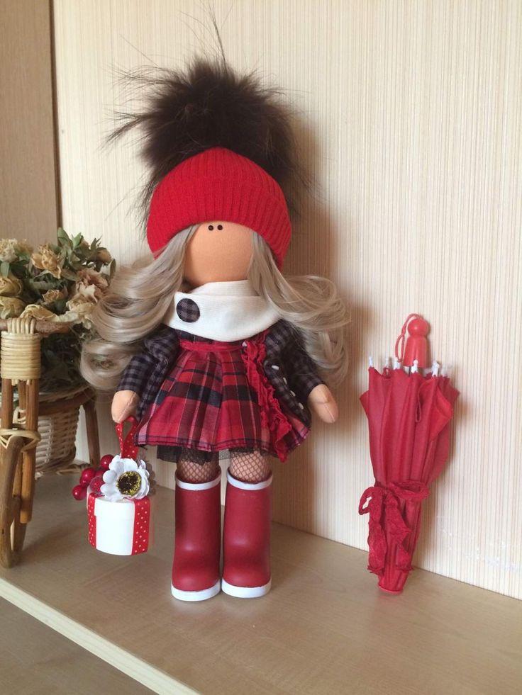 Купить Текстильная кукла ручной работы - трикотаж белый ангел, трикотаж кашкорсе, трессы для кукол