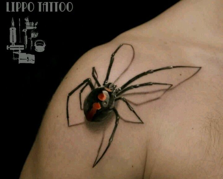 Black widow tattoo | Tattoos | Pinterest