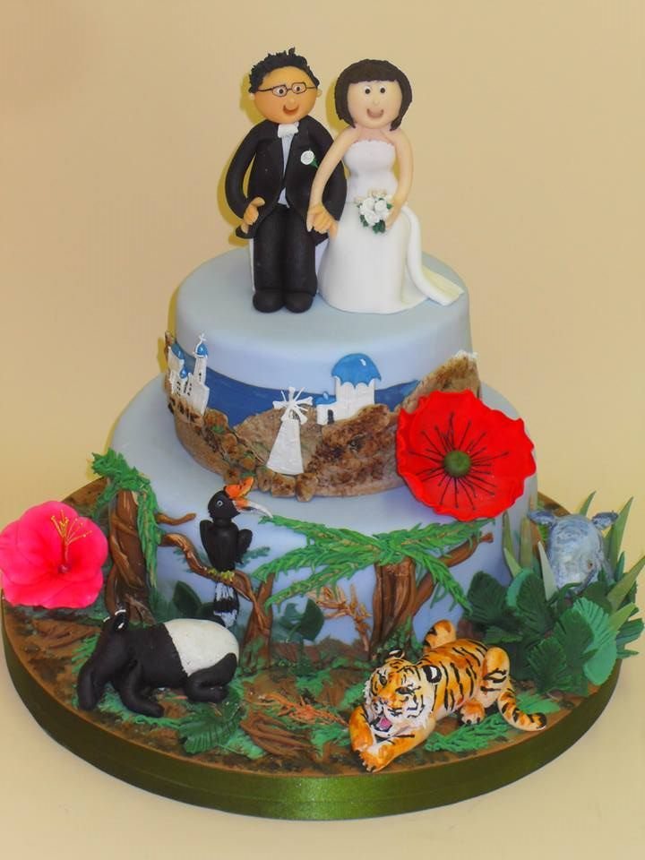 33 best Novelty Wedding Cakes images on Pinterest   Cake ...