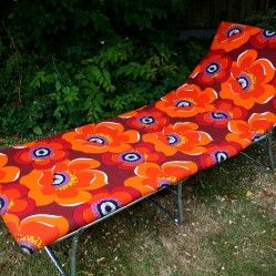 1970s' padded sun lounger from vintageactually.co.uk