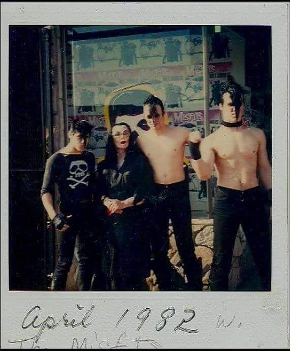 The Misfits and Vampira ~ 1982.