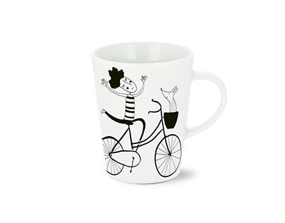 """Check out new work on my @Behance portfolio: """"BICYCLES ON MUGS"""" http://be.net/gallery/49550871/BICYCLES-ON-MUGS"""