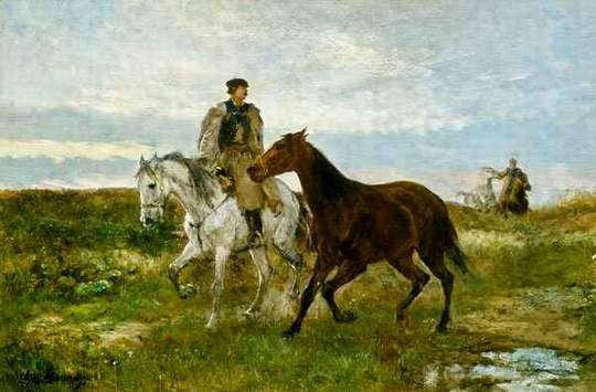 Mihaly Munkacsy: Hungarian horseman