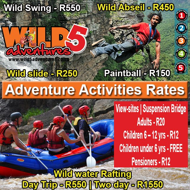 Our #adrenaline packed activities are sure to #getyourheartrategoing and blood pressure rushing, NOT our #prices. #WowSouthAfrica
