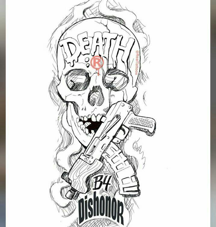 Small Line Art Chest Tattoo Design