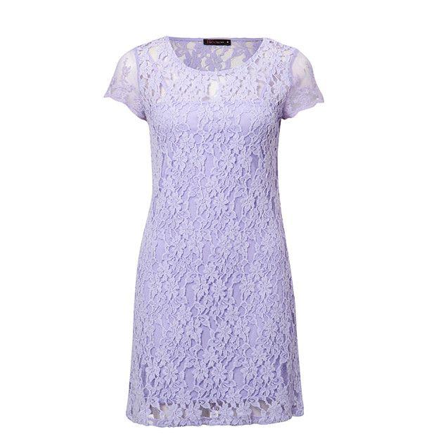 Free Fusion Lace Shift Dress - Lavender
