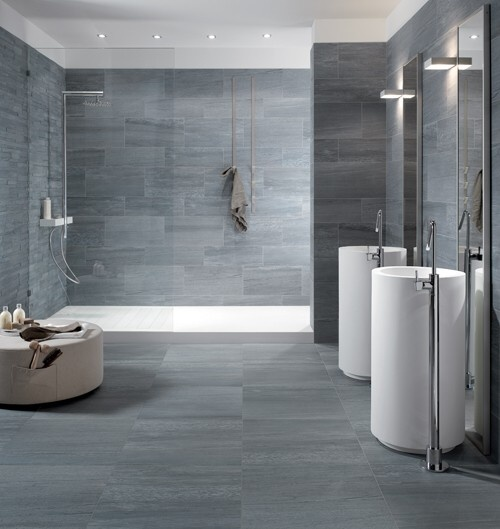 These beautiful grey tiles from Italian porcelain firm Keope have ...