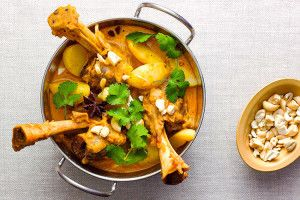Mild and mellow massaman curry with lamb shanks and potatoes: seriously good comfort food.