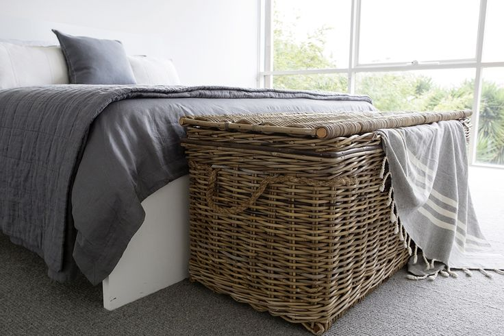 This Vintage Rattan Storage Trunk not only looks lovely but is great for extra storage in the bedroom.... www.rgimports.com.au