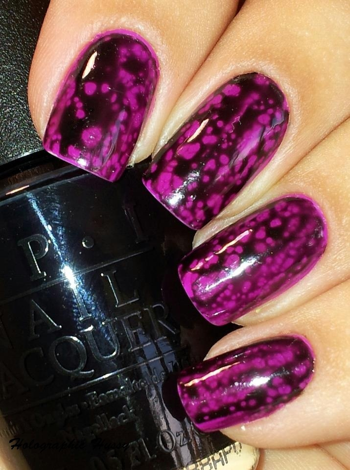 Holographic Hussy: OPI Black Spotted